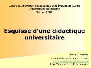 Centre d'Innovation Pédagogique et d'Évaluation (CIPE) Université de Bourgogne 24 mai 2007