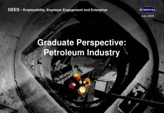 Graduate Perspective:  Petroleum Industry