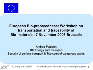 European Bio-preparedness: Workshop on