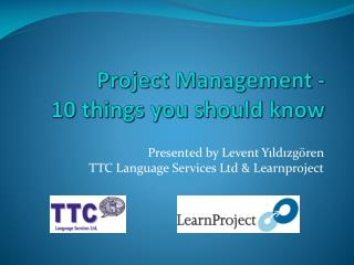 Project Management -  10 things you should know