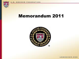 Memorandum 2011