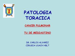 PATOLOGIA TORACICA