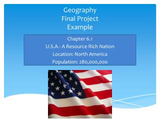 Geography Final Project Example