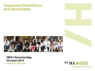 Programma Diversiteit en  Anti Discriminatie