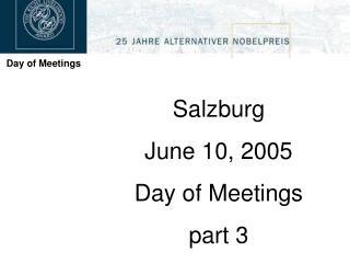 Day of Meetings