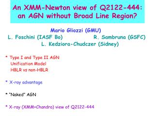 An XMM-Newton view of Q2122-444:  an AGN without Broad Line Region?