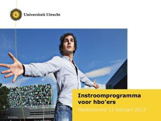 Instroomprogramma voor hbo � ers