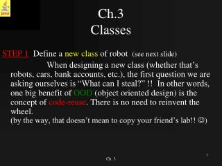 Ch.3  Classes