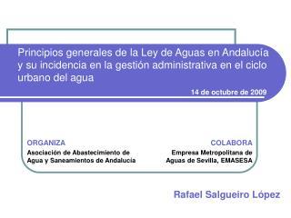 ORGANIZA Asociación de Abastecimiento de Agua y Saneamientos de Andalucía
