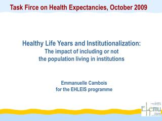 Emmanuelle Cambois for the EHLEIS programme