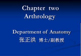 Chapter  two   Arthrology