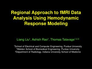 Regional Approach to fMRI Data Analysis Using Hemodynamic Response Modeling