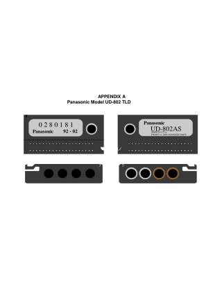 APPENDIX A          Panasonic Model UD-802 TLD