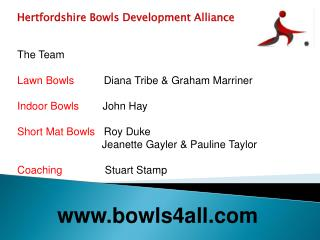 Hertfordshire Bowls Development Alliance