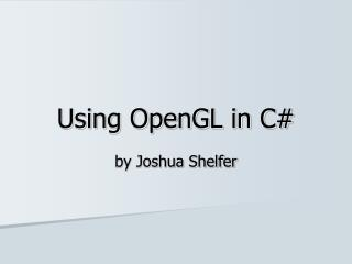 Using OpenGL in C
