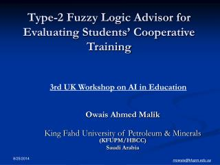 Type-2 Fuzzy Logic Advisor for Evaluating Students' Cooperative Training