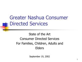 Greater Nashua Consumer Directed Services