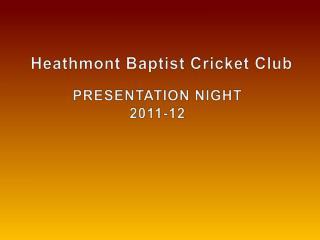 Heathmont  Baptist Cricket Club