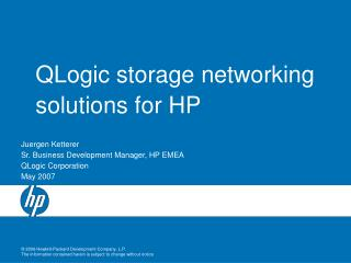QLogic storage networking solutions for HP