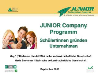 JUNIOR Company Programm Schüler/innen gründen Unternehmen