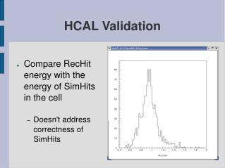 HCAL Validation