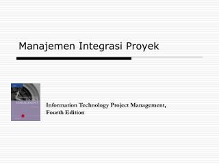 Manajemen Integrasi Proyek
