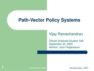 Path-Vector Policy Systems