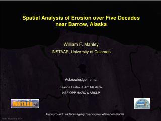 Spatial Analysis of Erosion over Five Decades near Barrow, Alaska
