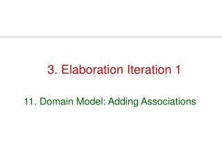 3. Elaboration Iteration 1
