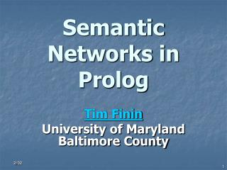 Semantic Networks in Prolog