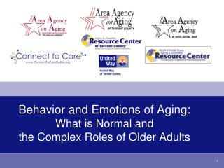 Behavior and Emotions of Aging: What is Normal and  the Complex Roles of Older Adults