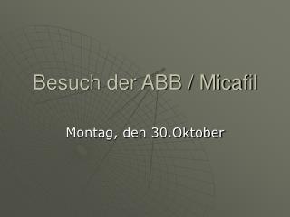 Besuch der ABB / Micafil