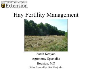 Hay Fertility Management
