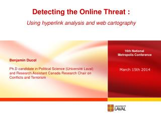 Detecting the Online Threat : Using hyperlink analysis and web cartography