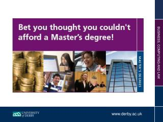 Why do a Master's ?