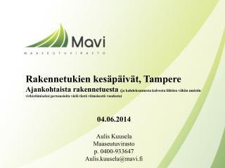 Rakennetukien kesäpäivät, Tampere