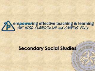Secondary Social Studies