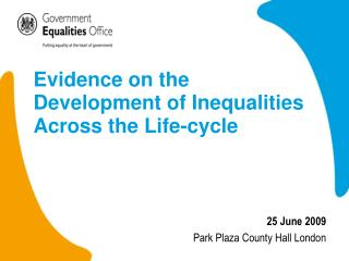 Evidence on the Development of Inequalities Across the Life-cycle