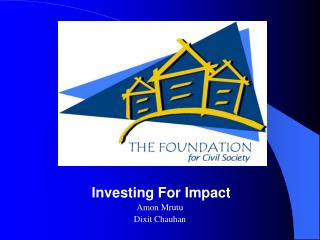 Investing For Impact Amon Mrutu Dixit Chauhan