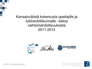 LLP Erasmus/ opetus- ja tukihenkilökunnan vaihto