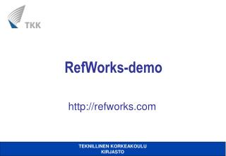 RefWorks-demo