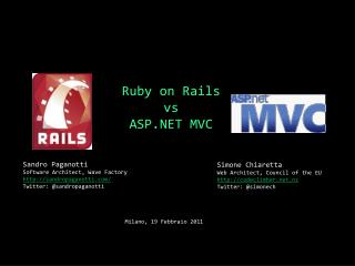 Ruby on Rails vs ASP.NET MVC