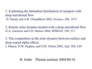 H. Isobe Plasma seminar 2004/06/16