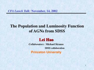 The Population and Luminosity Function of AGNs from SDSS