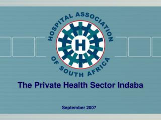 The Private Health Sector Indaba