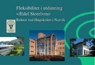 Fleksibilitet i utdanning v/Edel Storelvmo Rektor ved Høgskolen i Narvik
