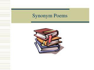 Synonym Poems