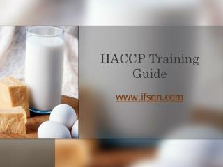 HACCP Training Guide