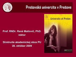 Pre šovská univerzita v Prešove
