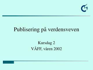 Publisering p� verdensveven